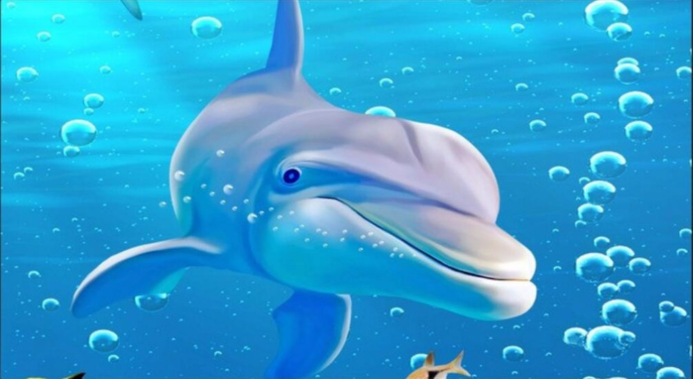 Custom Mural Photo 3d Wall Paper Shark Dolphins Coral Reefs Living Room  Decor Painting 3d Wall Murals Wallpaper For Wall 3 D In Wallpapers From  Home ...