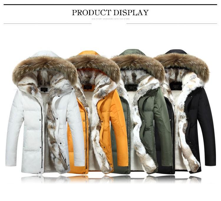 Winter Down Jacket Men Fur Parka Fashion Casual Thicken Warm Fur collar Hooded Men Women jacket&coat couple Down Jacket S-5XL (7)