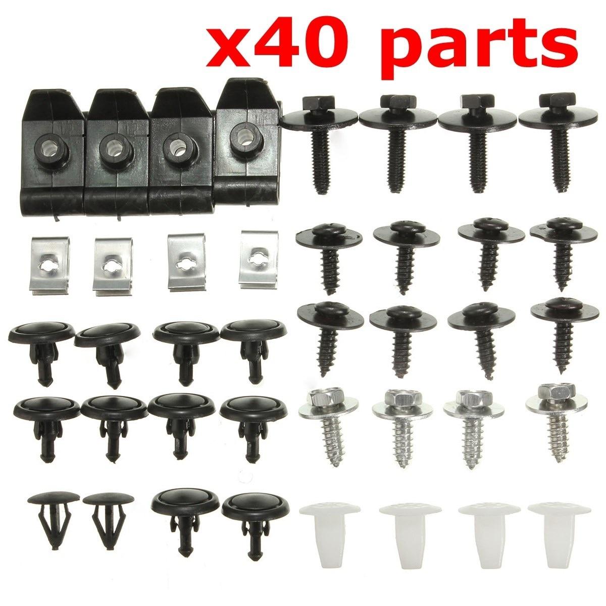 410x Universal Car Fastener Rivet Clip 6-10mm Hole for Mudguard Bumper Door Fend