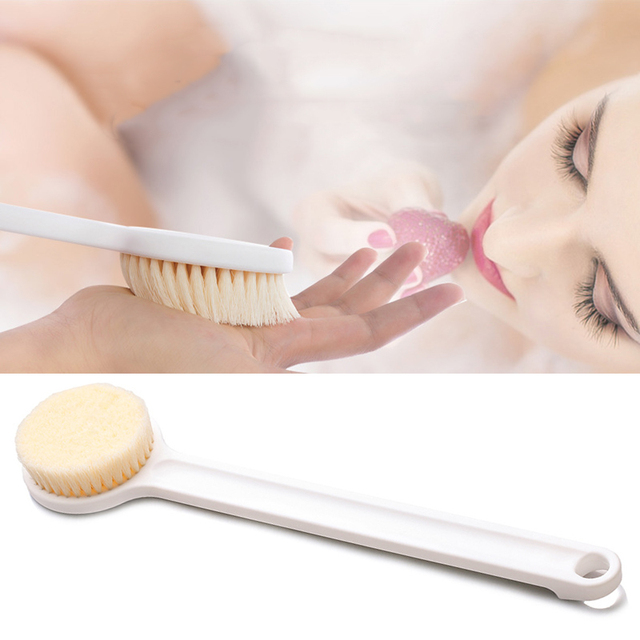 Ezlife Bath Brush Long Handle Reach Back Body Shower Bristle Spa Shower Brush Body Rubbing Back Brushes Bathroom Accessories In Cleaning Brushes From