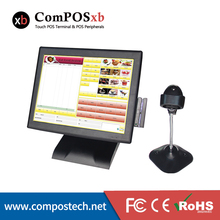Free Shipping POS Terminal/ POS System/ All-in-one Manufacturer 15 Inch With Pos Machine Price With MSR With Scanner
