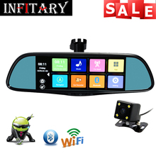 Touch Special Car DVR Camera Mirror GPS Bluetooth 16GB Android 4.4 Dual Lens FHD 1080p Video Recorder Dash Cam