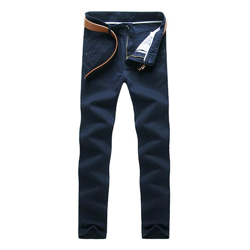 HTB1CZZGXOfrK1RjSspbq6A4pFXaB Fashion Men Business Casual Pants Cotton Slim Straight Trousers Spring Summer Long Pants -MX8