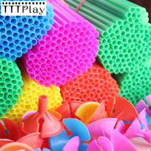 100 Sets 40cm Latex Balloon Stick Colorful PVC Rods Balloons Holder Sticks With Cup Balloons Accessories Birthday Party Supplies