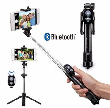 DHL Free 50pcs Mini Selfie Stick Foldable Tripod 3 in 1 Universal Romote Bluetooth Stick For iPhone Samsung Android Retail Box
