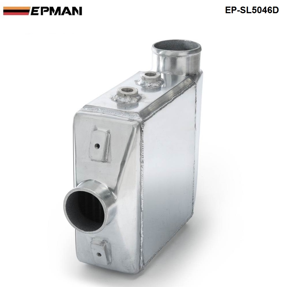 EPMAN -Universal Aluminum Water To Air Turbo Intercooler Front Mount 250 X 220 X 115mm Inlet/Outlet: 3.5 EP-SL5046D epman universal aluminum water to air liquid racing intercooler core 250 x 220 x 115mm inlet outlet 3 ep sl5046c
