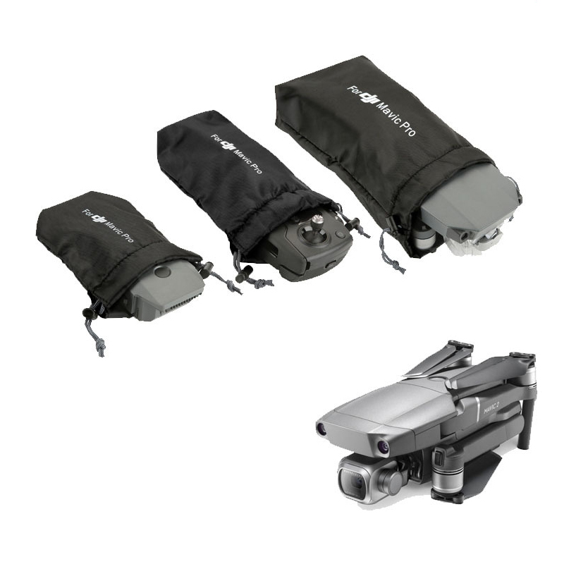 Soft Cloth Sleeve Drone / Remote Controller / Battery Storage Bag Portable Carrying Case For DJI Mavic Pro / Mavic Air