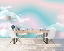 beibehang custom made Photo wallpaper mural Silk material Abstract landscape rainbow Childrens room background 3d