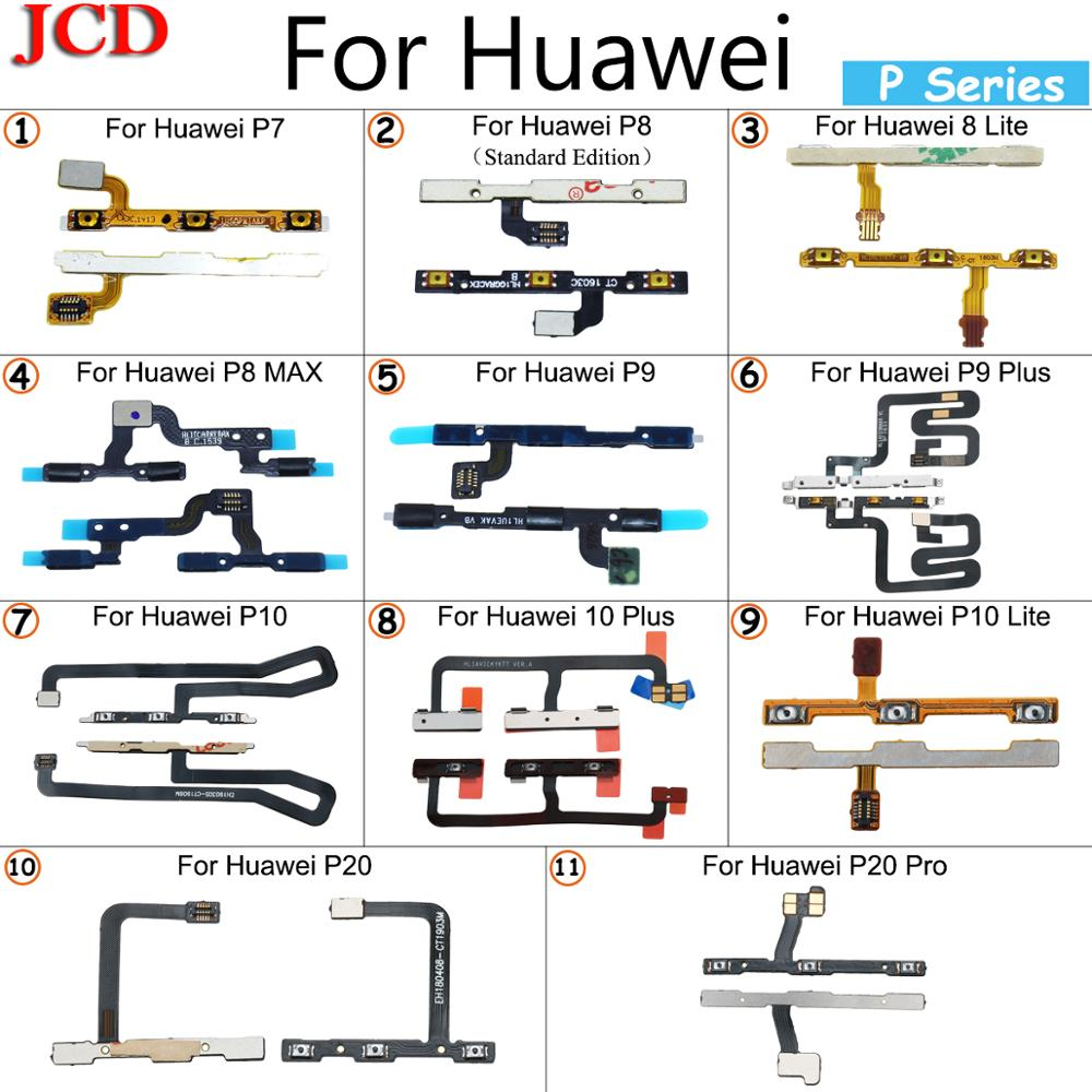 JCD Volume On OFF Button Power Flex Cable For Huawei P7 P8 P8 Lite P8 MAX P9 P9 Plus P10 Lite P10 Plus P20 P20 Pro Power Flex