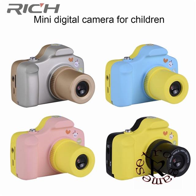 rich A11  1.5 Inch 2MP Mini igital Camera for Kids Baby Cute Cartoon Multifunction Toy Camera Children Birthday