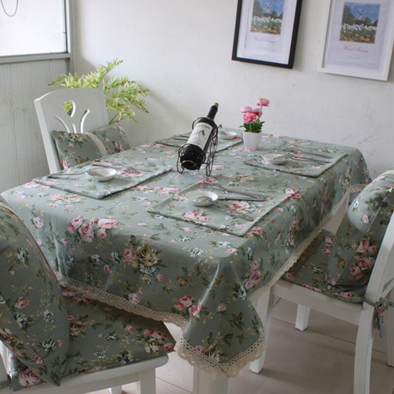 Pastoral Style Printing Tablecloth Dining Table Mat Coffee Tea Bar Restaurant Decoration Home Decor