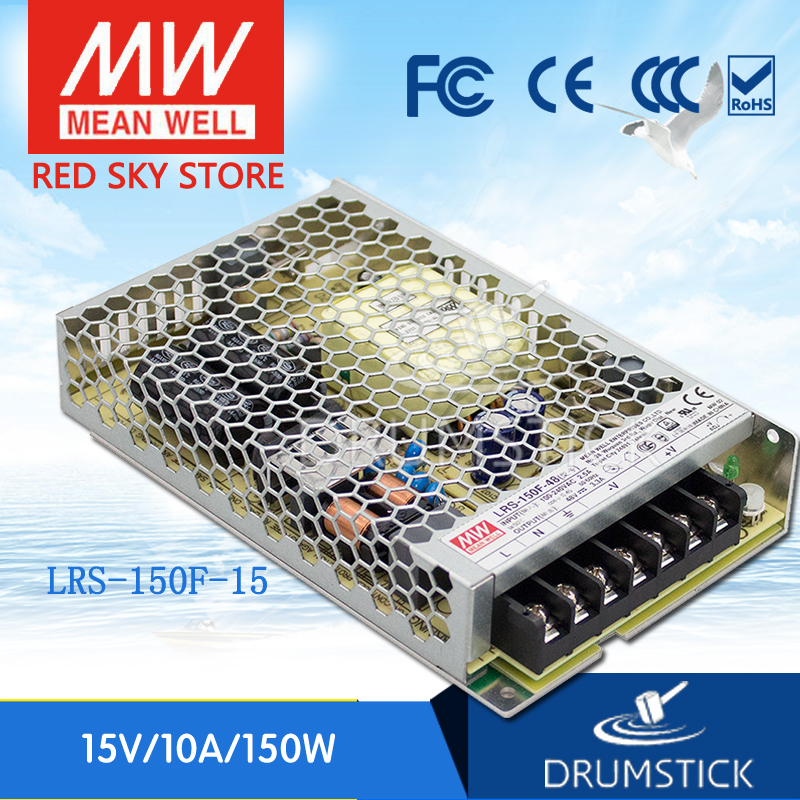 Hot sale MEAN WELL LRS-150F-15 15V 10A meanwell LRS-150F 15V 150W Single Output Switching Power Supply цена 2017