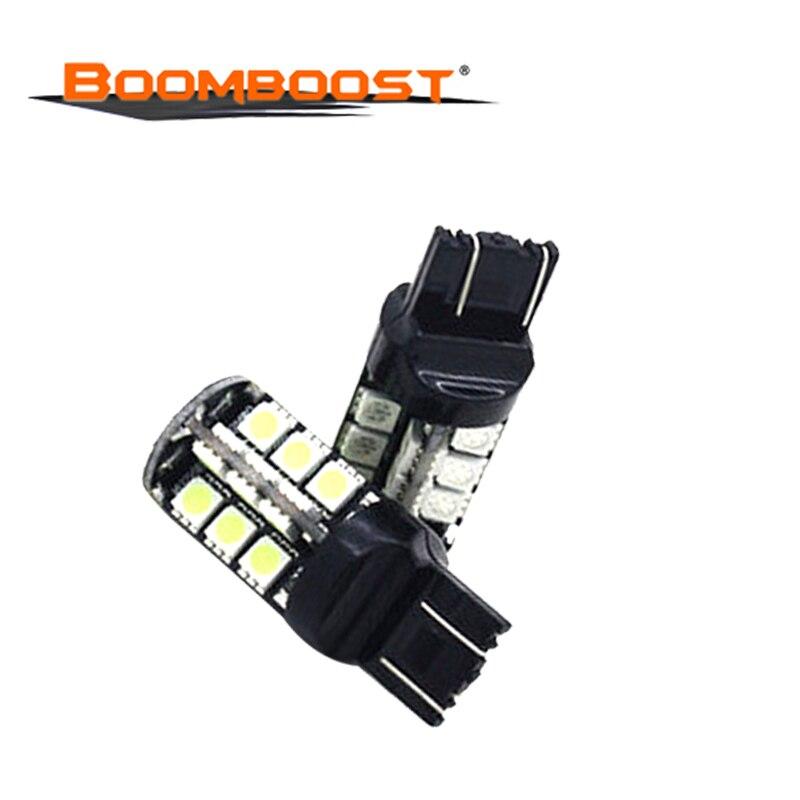 10Pcs  Canbu Wedge Lamp 27SMD 5050 Reversing Light White Car Lamp Reverse Turn signal LED bulb 27 SMD DC12V 5050 W215W