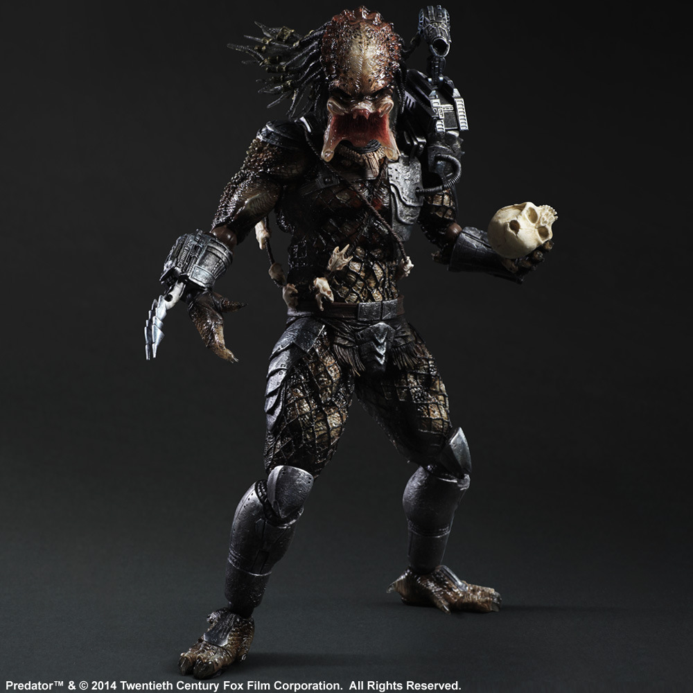 Huong Movie Figure 27 CM Alien Hunter Primevil Play Arts Kai Generation 2 Predator PVC Action Figure Collectible Toy Model play arts kai street fighter iv 4 gouki akuma pvc action figure collectible model toy 24 cm kt3503