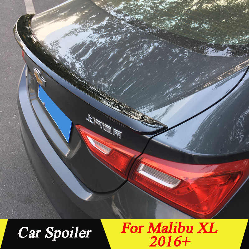 High Quality ABS Plastic Spoiler Primer Color Car Tail Wing Rear Trunk  Spoiler For Chevrolet Malibu XL 2016+