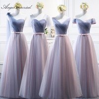 Angel married cheap bridesmaid dresses 4 style elegant wedding party dress edding guest gown vestido de festa longo 2019