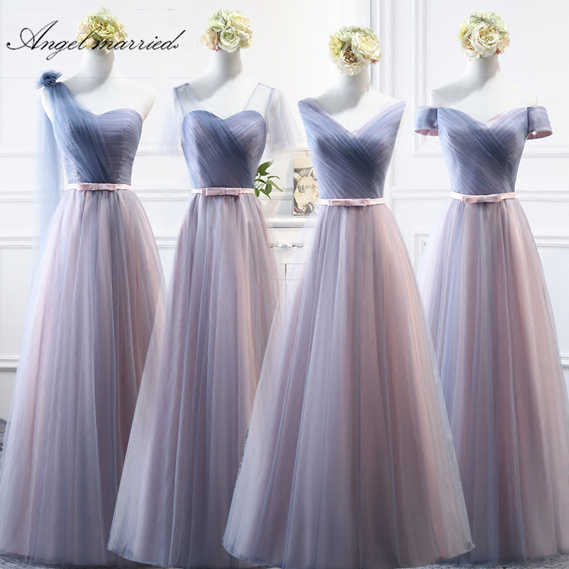 cheap   bridesmaid     dresses   2019 elegant tulle sweeetheart women wedding guest   dress   robe de demoiselle d'honneur pour mariage