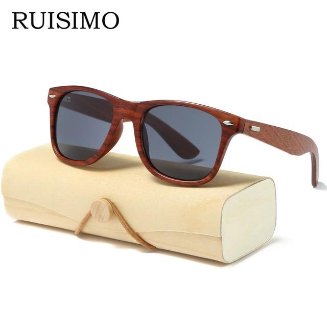 bc2d30a41d90a2 Handmade Wood Sunglasses Men women square Sunglasses for men women Mirror  Wooden Sun Glasses retro de sol masculino 2017