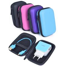 120x80x40mm External Battery Hard Cases Shockproof Portable EVA Storage Carrying Bags for Cellphone USB Chargers Data Cables