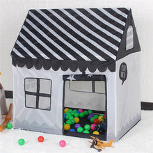 цены на Play Tent Toy Portable Foldable Ball Pool Pit Indoor Outdoor Simulation House Black And White Tent Gifts Toys For Kid 85*75*75cm  в интернет-магазинах