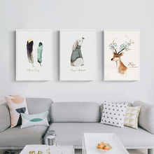 Nordic Art Painter Frank in the Forest Canvas Painting Art Print Poster Wall Paintings Home Decoration Bedroom Wall Decoration