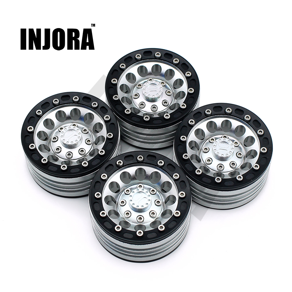 4Pcs/Set 1:10 RC Crawler Metal Alloy 1.9 Inch Wheel Rim BEADLOCK for 1/10 Axial SCX10 TAMIYA CC01 RC4WD D90 D110