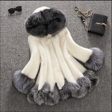 Free Shipping High Grade Faux Mink Fur Women Winter Coat Thick Warm Faux Fur Fashion Jacket Warm Women Coat QY001
