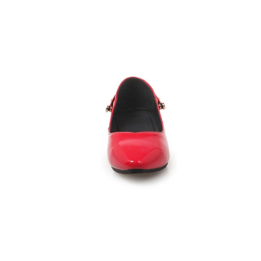 34 Rivets Taille rouge Esveva noir Talon Beige Peu Sur Pompes Pointu 2019 Profonde Sandales Élégant Bout Bas Carré Femmes 43 Glissent Talons Chaussures qqgxUa