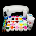 PRO FULL 9W UV White Lamp 24 Color Pure UV GEL Nail Art KIT Gel Set