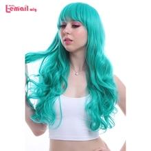 L e mail peruca nova marca 65 cm/25.59 polegadas feminino cosplay perucas longo ondulado resistente ao calor peruca de cabelo sintético perucas cosplay