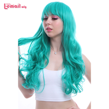 L email wig Brand New 65cm/25.59inches Women Cosplay Wigs Long Wavy Heat Resistant Synthetic Hair Perucas Cosplay Wig