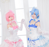 STOCK 2018 Anime Re Life In A Different World From Zero RAM REM Wedding Dress