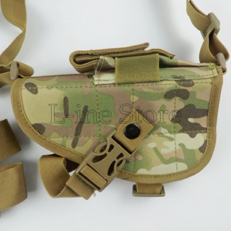 Multicam CP Camo Adjustable Military Tactical Shoulder Pistol Gun Armpit Holster & Magazine Pouch Bag Camping Hunting Gear