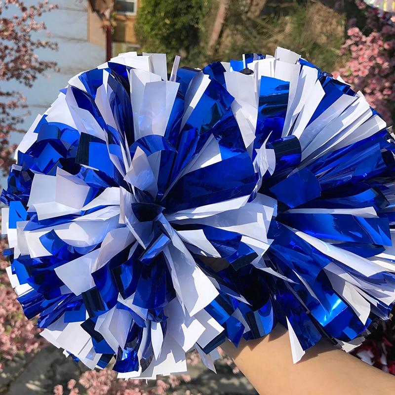 Free Fast Shipping Cheerleader Pom Pom Metallic Royal Blue And Plastic White 1,000*3/4