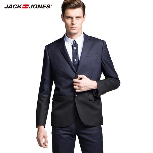 JackJones марка Мужчины Превосходное Качество Мода Комфортно Шерсть Бизнес Блейзер Пальто Мужской Тонкий Роскошные Повседневная Куртка 214372004