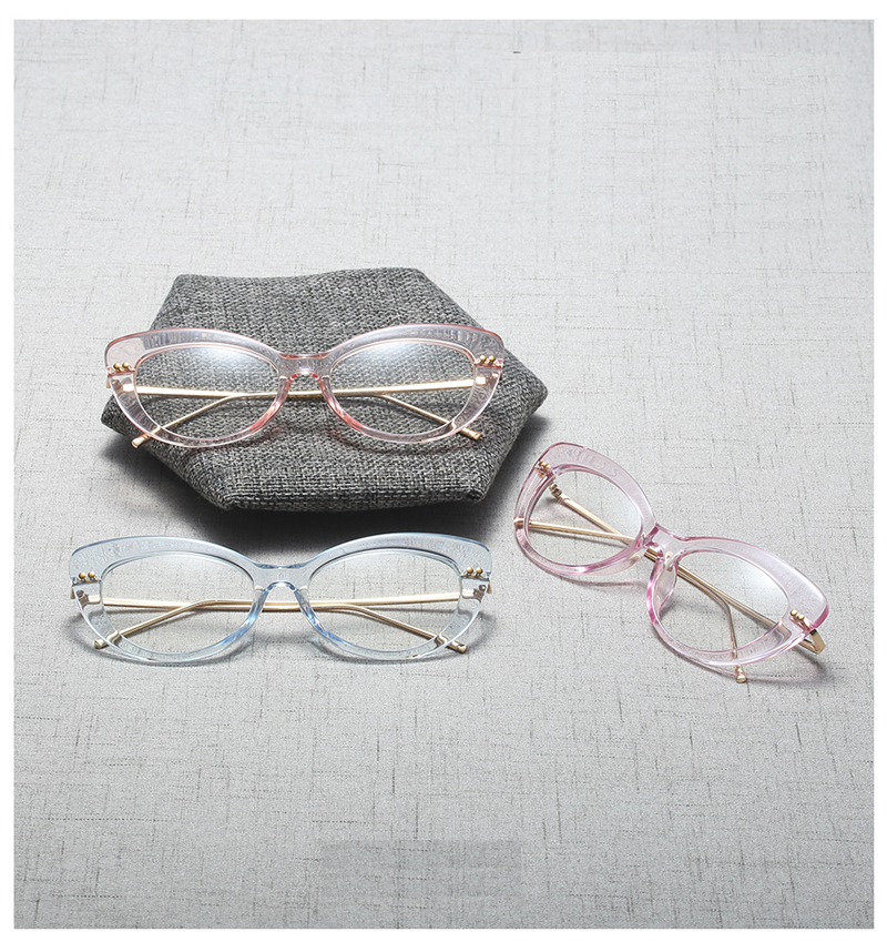 3cccf99623a Peekaboo clear cat eye glasses frames for women 2019 black leopard fashion  transparent eyeglasses women lady half metal. cat eye glasses 9320 details  (1) ...