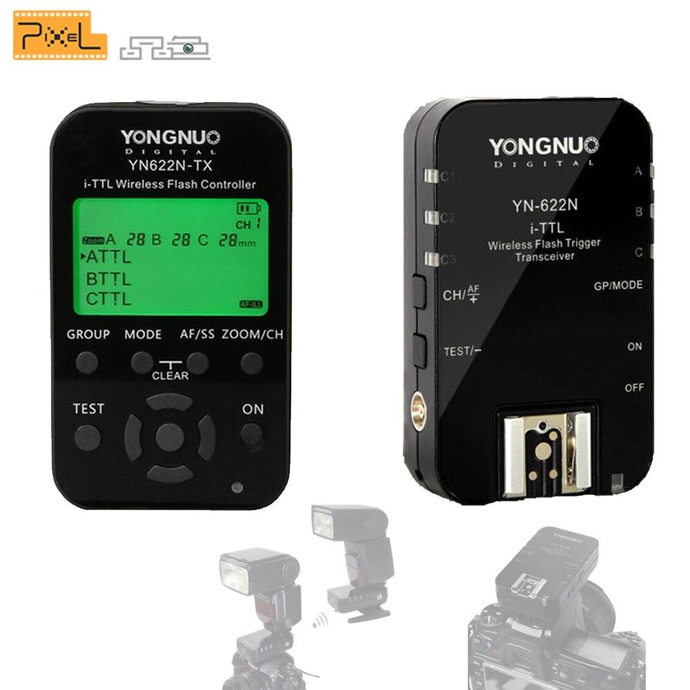 YONGNUO YN-622N YN622N YN622N-KIT 622N-TX Wireless TTL HSS Flash Trigger Set For Nikon Supports YN586EX YN685N INSEESI IN586EXII радиосинхронизатор yongnuo yn622n kit для nikon