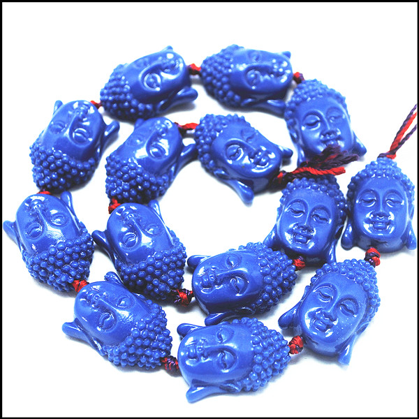 Beads Realistic 7pcs Hot Flat Buddha Firgues Blue Colors Beads Accessories Size 17x25mm Top Fashion Items Very Hot Items Diy Findings Jewelry & Accessories