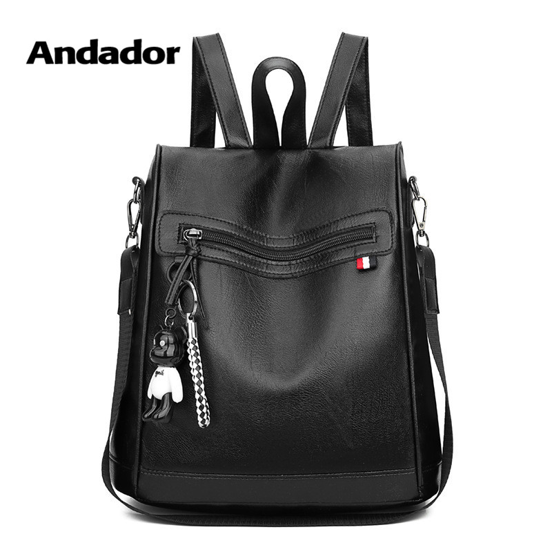 New fashion casual pu women anti-theft backpack 2019 hight quality black backpacks female larger capacity travel shoulder bagNew fashion casual pu women anti-theft backpack 2019 hight quality black backpacks female larger capacity travel shoulder bag
