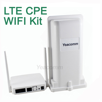 Free Shipping! Yeacomm YF-P11K 4g CPE WIFI KIT outdoor LTE CPE and indoor WIFI AP 1