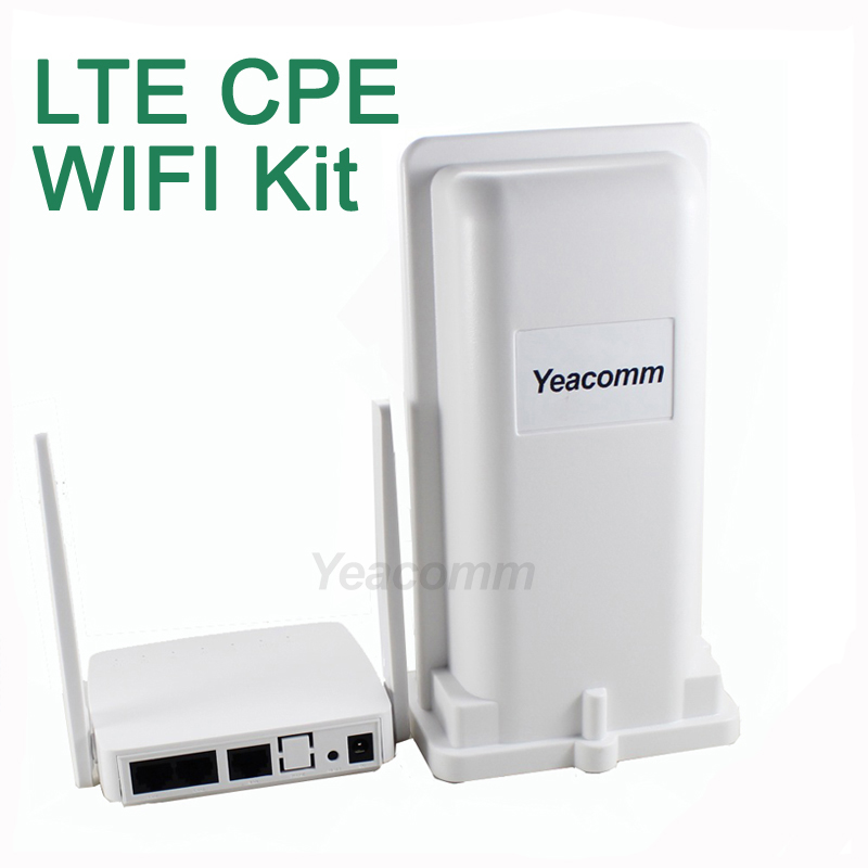 Free Shipping! Yeacomm YF-P11K 4g CPE WIFI KIT outdoor LTE CPE and indoor WIFI AP yeacomm yf p11k cat4 150m outdoor 3g 4g lte cpe router with wifi hotspot