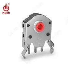 Kailh5/7/8/9/10/11/12 ミリメートルロータリーマウススクロールホイールエンコーダ 1.74 ミリメートル穴マーク、 20 40 グラム力 pc