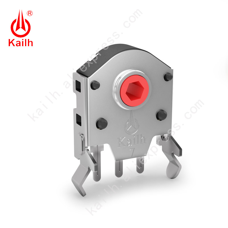 Kailh5/7/8/9/10/11/12mm Rotary Mouse Scroll Wheel Encoder With 1.74 Mm Hole Mark,20-40g Force For PC Mouse