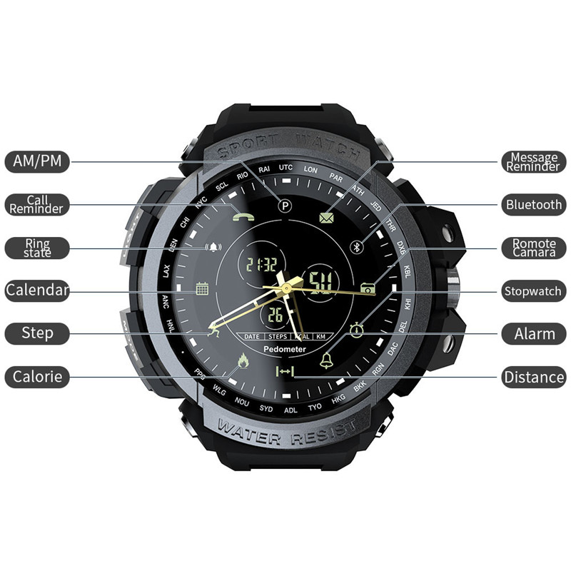 lowest price 2020 Teamyo Smart Watches Sports 50m Waterproof Bluetooth Call Reminder  Digital Men Clock SmartWatch For Ios and Android Phone