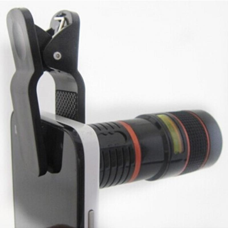 Universal Clip 8X Zoom Mobile Phone Telescope Lens Telephoto External Smartphone Camera Lens for iPhone Sumsung Huawei