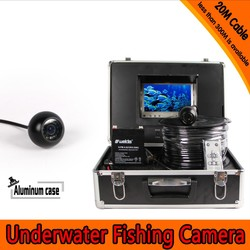 Dome Shape Underwater Fishing Camera Kit with 20Meters Depth Cable & 7Inch TFT LCD Monitor with OSD Menu & Hard Plastics Case