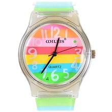 Практичный Уиллис мини часы настольный моды водонепроницаемые часы ребенок стол желе часы 0150
