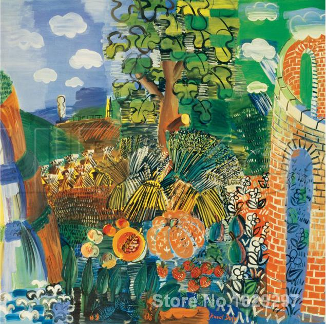 Modern painting on canvas Composition Raoul Dufy High quality Hand paintedModern painting on canvas Composition Raoul Dufy High quality Hand painted