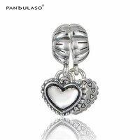 Moje Szczególne Siostra Pandulaso Heart Family Charms Koraliki Fit Bransoletki i Bangles Srebrne Koraliki dla Biżuteria Dokonywanie Charms DIY Biżuteria