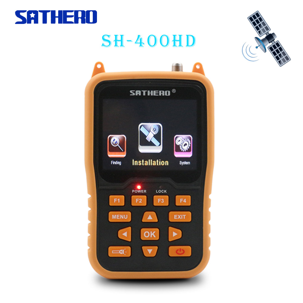 Sathero Orignal SH-400HD DVB-S2 HD Satellite Finder Meters MPEG-4  Digital Satfinder Meter Full 1080P TV Satelite Signal Finder